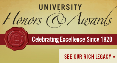 University Honors and Awards website; Celebrating excellence since 1820. See our rich legacy.