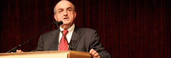 President McRobbie speaking