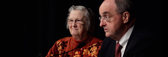 President McRobbie and Elinor Ostrom